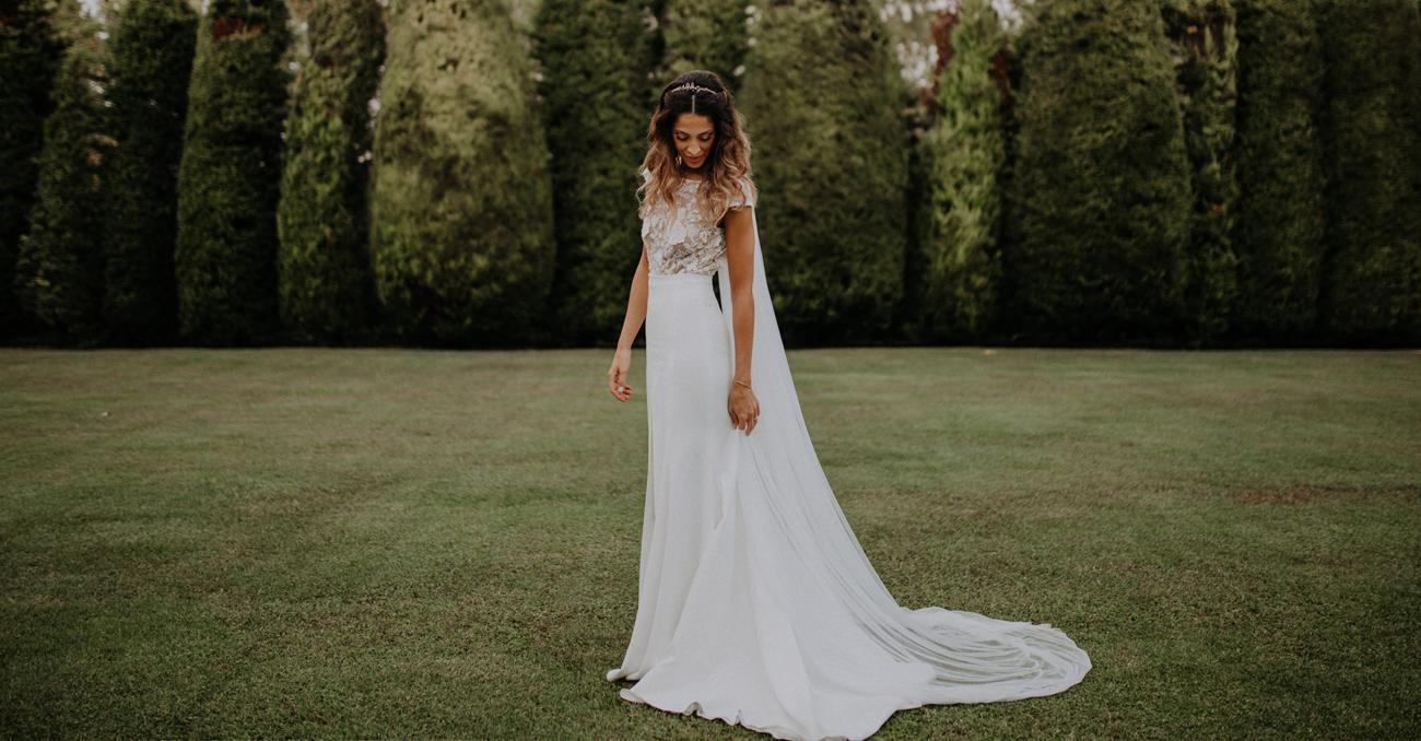 Como recoger cola vestido novia